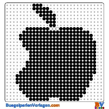 Bügelperlen Vorlage Apple
