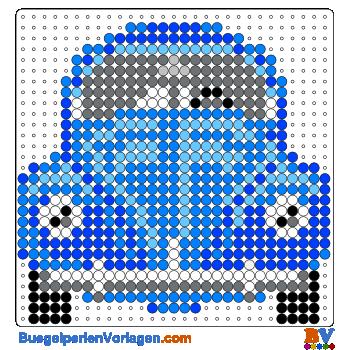 Bügelperlen Vorlage Auto-VW Käfer