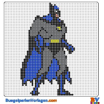 Bügelperlen Vorlage Batman