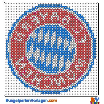 Bügelperlen Vorlagen Von Dem Fc Bayern München Zum Herunterladen Und