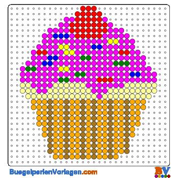 Bügelperlen Vorlagen Von Einem Cupcake Zum Herunterladen Und Ausdrucken