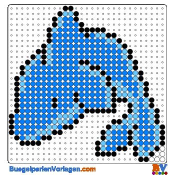 Bügelperlen Vorlage Delphin