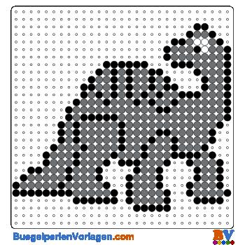 Bügelperlen Vorlage Dinosaurier