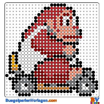 Bügelperlen Vorlage Donkey Kong Kart von Mario Kart