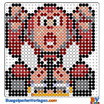 Bügelperlen Vorlage Donkey Kong von Mario Kart