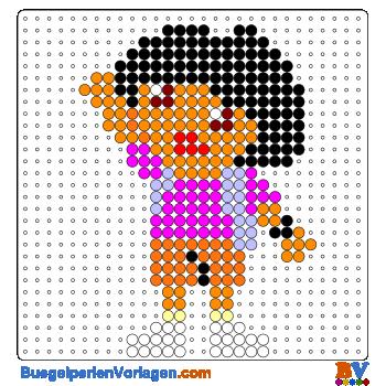 Bügelperlen Vorlage Dora