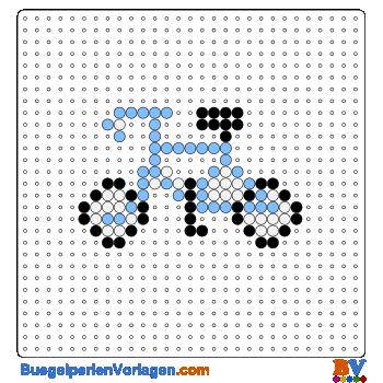 Bügelperlen Vorlage Fahrrad