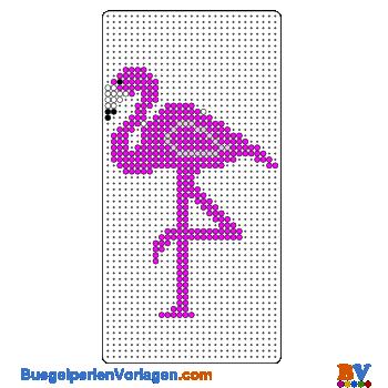 Bügelperlen Vorlage Flamingo