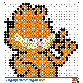 Bügelperlen Vorlage Garfield