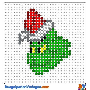 Bügelperlen Vorlagen Vom Grinch In Weihnachten Zum Herunterladen Und