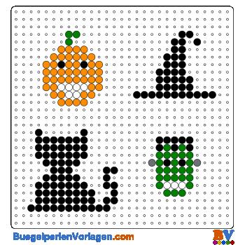 Bügelperlen Vorlage Halloween