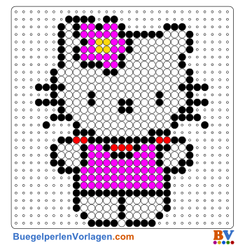 Bügelperlen Vorlagen von Hello Kitty 3 zum Herunterladen und Ausdrucken