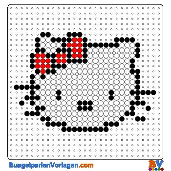 Bügelperlen Vorlage Hello Kitty Portrait gross