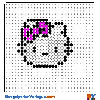 Bügelperlen Vorlage Hello Kitty Portrait klein