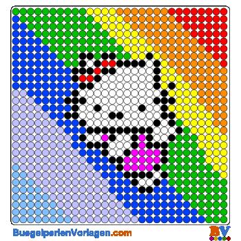 Hello Kitty Regenbogen buegelperlen vorlagen web 76bb2