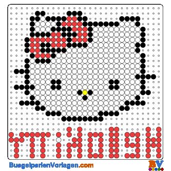 Bügelperlen Vorlagen von Hello Kitty zum Ausdrucken und Herunterladen