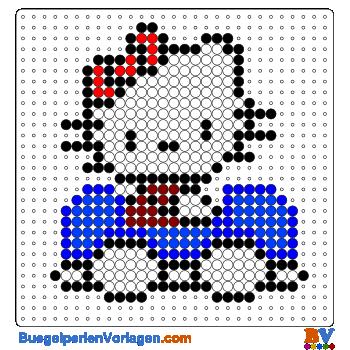 Hello Kitty mit Auto buegelperlen vorlagen web 26dbe