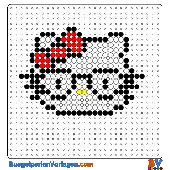 Hello Kitty mit Brille buegelperlen vorlagen web a0401
