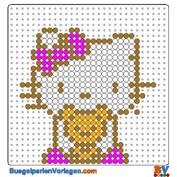 Bügelperlen Vorlagen von Hello Kitty mit Teddy zum Herunterladen und ...