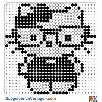 Hello Kitty schwarz buegelperlen vorlagen web 779ab