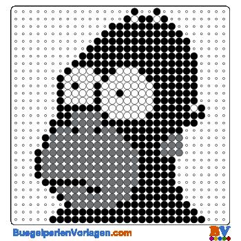 Bügelperlen Vorlage King Kong Homer