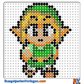 Bügelperlen Vorlage Link von Zelda