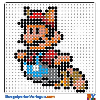 Bügelperlen Vorlage Mario Bros