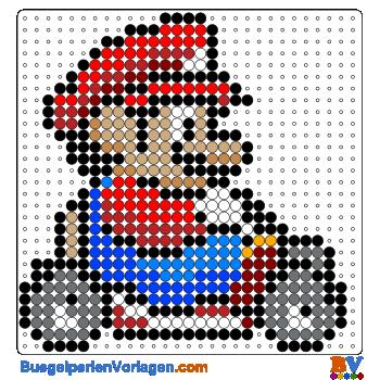 Bügelperlen Vorlage Mario Kart