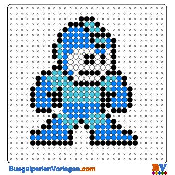 Bügelperlen Vorlage Mega Man