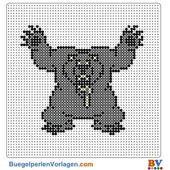 Bügelperlen Vorlage Monster Bär