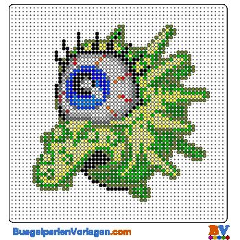 Bügelperlen Vorlage Monster