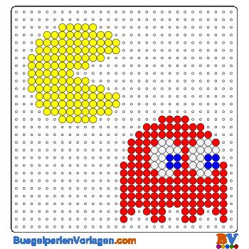 Bügelperlen Vorlage Pacman