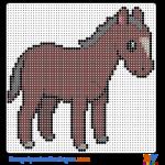 Pferd buegelperlen vorlagen web