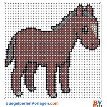Bügelperlen Vorlage Pferd