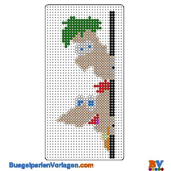 Bügelperlen Vorlage Phineas und Ferb