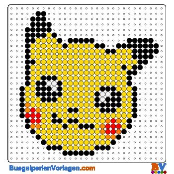 b gelperlen vorlagen vom gesicht von pikachu zum herunterladen und ausdrucken. Black Bedroom Furniture Sets. Home Design Ideas