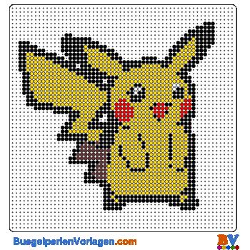 b gelperlen vorlagen von pikachu von pokemon zum herunterladen und ausdrucken. Black Bedroom Furniture Sets. Home Design Ideas