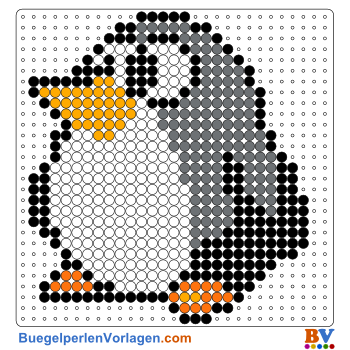 Bügelperlen Vorlage Pinguin