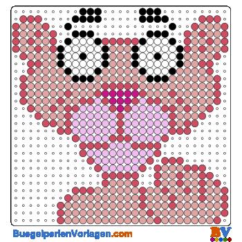 Bügelperlen Vorlage Pink Panther
