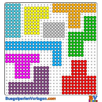 Bügelperlen Vorlagen von einem Puzzle Quadrat Quiz zum Herunterladen ...