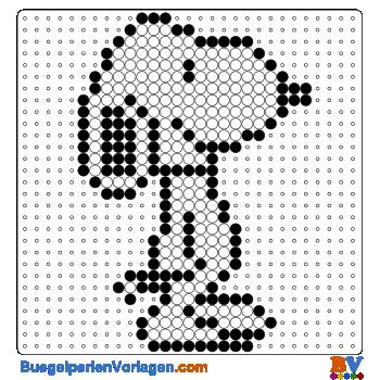 Bügelperlen Vorlage Snoopy