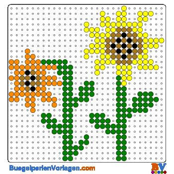 Bügelperlen Vorlage Sonnenblumen