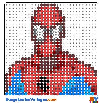 Bügelperlen Vorlagen Von Spiderman Zum Herunterladen Und Ausdrucken