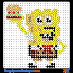 SpongeBob mit Hamburger buegelperlen vorlagen web 26dbe