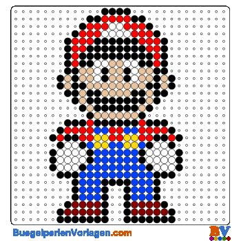 Bügelperlen Vorlage Super Mario