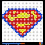 Superman Schild buegelperlen vorlagen web