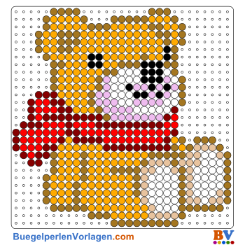 Bügelperlen Vorlage Teddybär