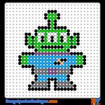 Toy Story Aliens buegelperlen vorlagen web d9357