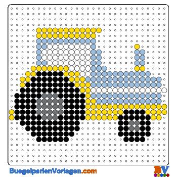 Bügelperlen Vorlage Traktor