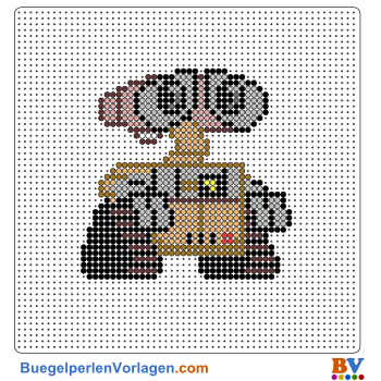 Bügelperlen Vorlage WALL-E
